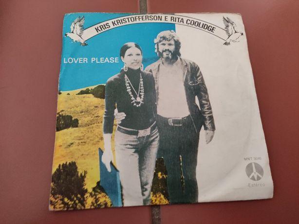 Disco Vinil Kris Kristofferson e Rita Coolidge- Lover Please