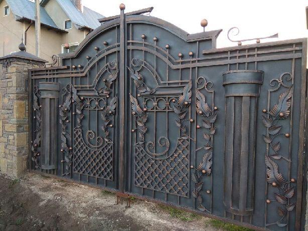 Відкатні ворота. Ковані ворота. Кование изделия.Ковка.