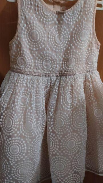 Нарядное пышное платье цв.персик для утренника выпускного 4-6 лет.