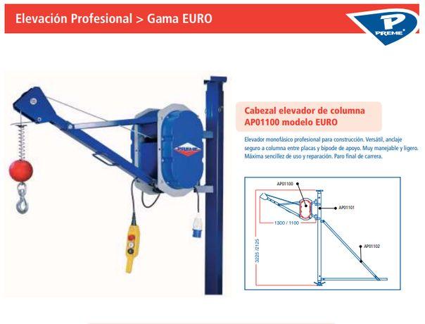 Elevador 300Kg c/ Coluna e Bipode (Grueta)