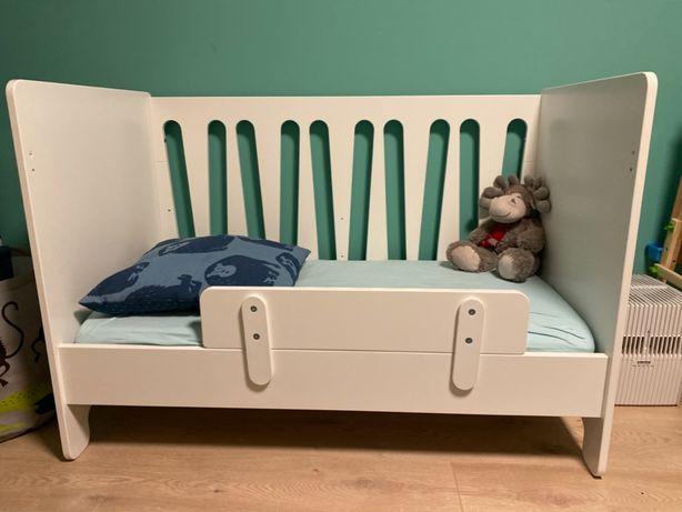 Łóżeczko niemowlęce 120x60 + materac lateksowy + komoda