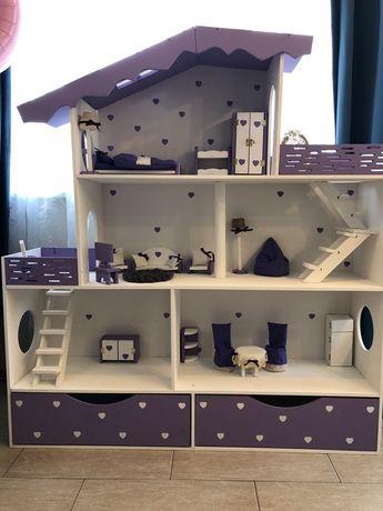 Игровой кукольный домик! Домик для Барби! Мебель для кукольного домика