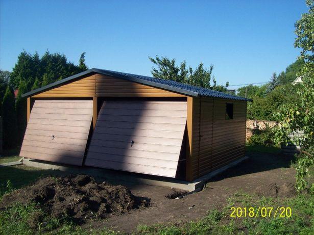 garaż drewnopodobny 6x6 600x600 profil wzmocniony orzech złoty dąb