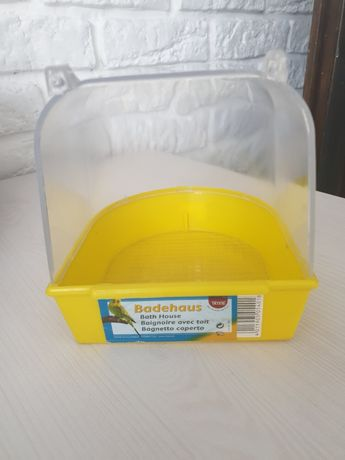 Domek basenik dla ptaka kanarka