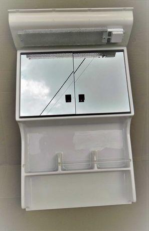 Szafka z lustrem lampą do łazienki przyczepy Hobby kampera
