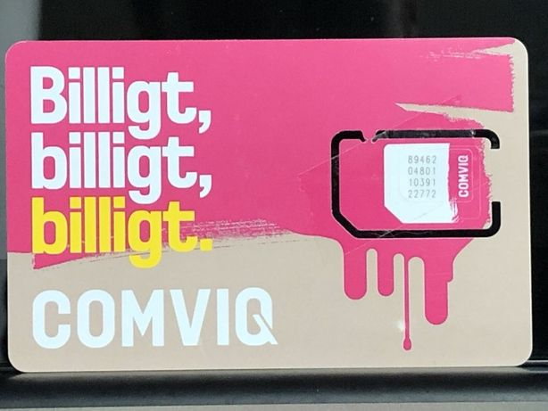 Starter Prepaid SIM Card Comviq / Tele2 Szwecja 7 dni bez limitu w EU