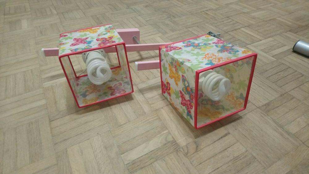 Żyrandol, lampa do dziecięcego pokoju, różowa. Tomaszów Mazowiecki - image 1