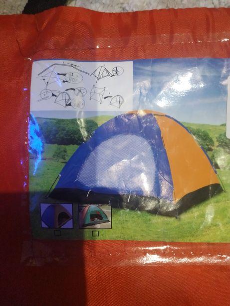Палатка туристическая 3-местная 200*200*135 Новая двухслойная
