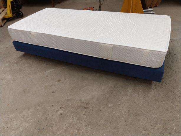 Łóżko kontynentalne 120x200cm tapczan z materacem tapicerowane