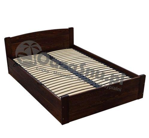łóżko drewniane podnoszone z boku stelaż elastyczny ONYX 140x200