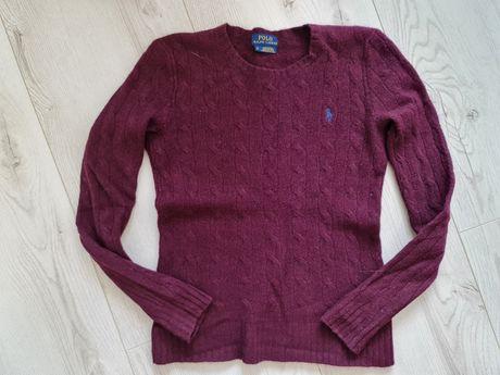 Sweterek damski Ralph Lauren XS burgundowy