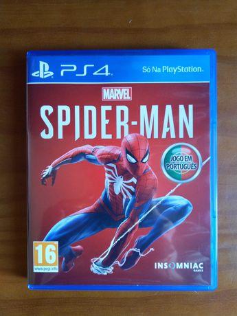 Caixa de jogo Spiderman PS4 (vazia)