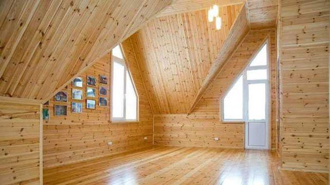 Обшивка будинків, кімнат, лазні дерев'яною вагонкою, блок хаусом.