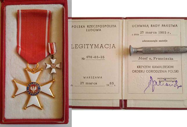 Krzyż Kawalerski Orderu Odrodzenia Polski + Książeczka + Miniaturka