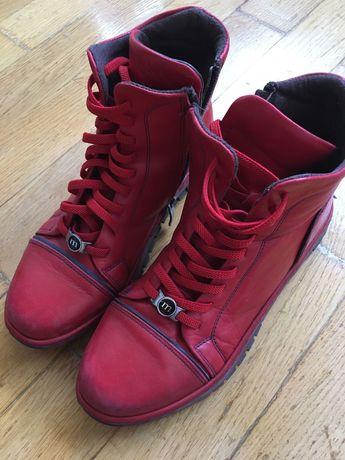 Кожаные Демисезонные ботинки размер 37