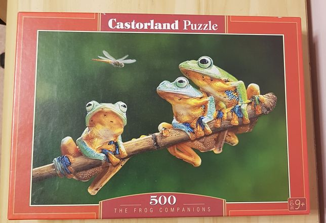 Puzzle 500 EL. zielone żaby ważka Castorland gałąź