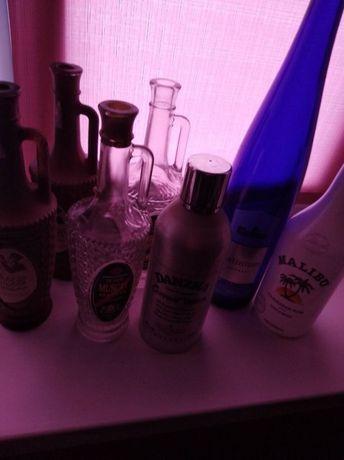 Красивые бутылки для декупажа или рукоделия.