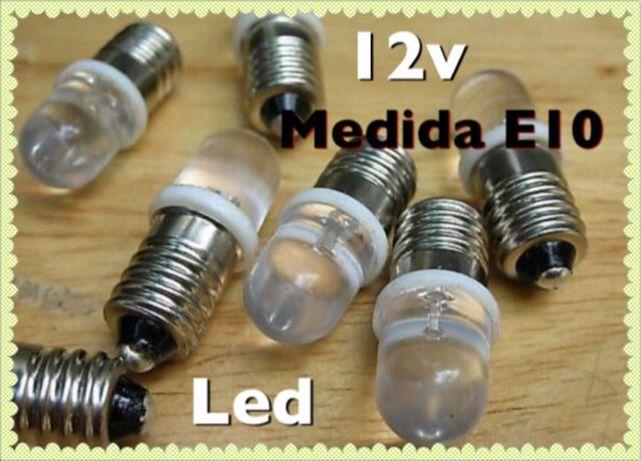 lâmpada E10 12v Led novas