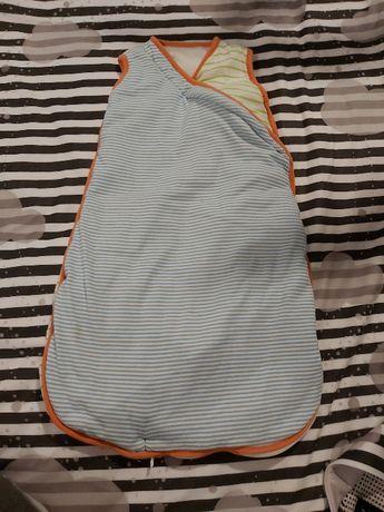 Śpiworek do spania dla maluszka 0-6 m-cy lekko ocieplony