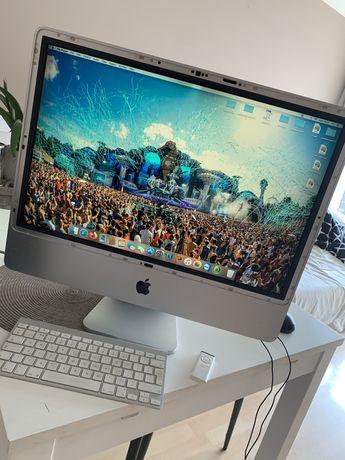 """Apple iMac 24"""" 2007 MID 4GB 2,4 Ghz + klawiatura + pilot"""