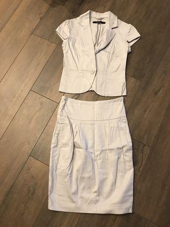 Marynarka krotki rekaw + spódnica r.34 Reserved