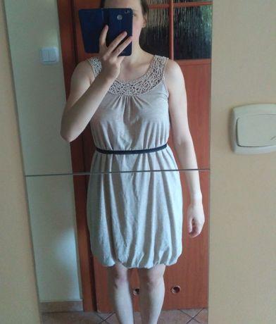 Beżowa elegancka sukienka Reserved rozm. L