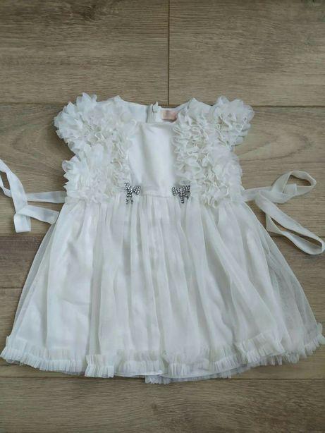 Нарядное молочное (белое) платье 3-6 месяцев (можно на крещение)