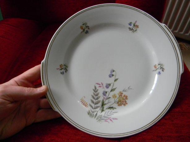 Porcelana piekna patera w kwiaty PMS