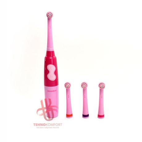 ОПТ/ДРОП Електрична зубна щітка Nevadent kids (синя / рожева) із змінн