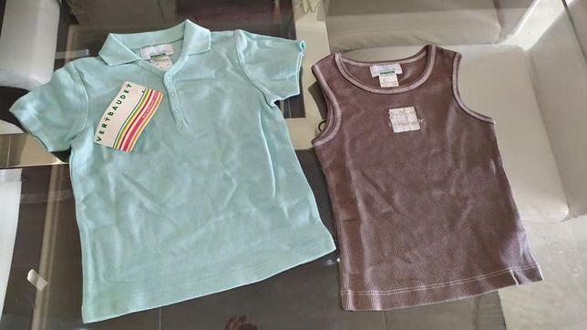NOVO lote de t-shirt + camiseta para 12-18 meses VERTBAUDET