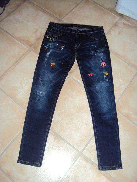 Dżinsy nowe m/l rozciągliwe strecz spodnie rurki