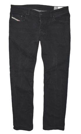 Diesel 36/32 proste klasyczne czarne spodnie jeansowe jeansy dżinsy
