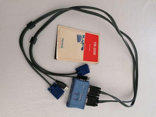 Divisor para acesso a dois PCs em simultaneo, TK-207