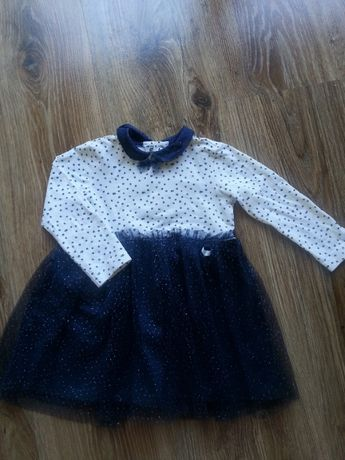 Śliczna sukienka Coccodrillo r.74