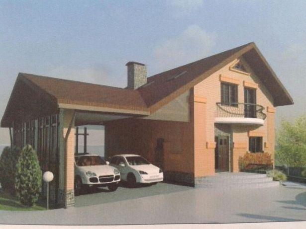 Полный рабочий проект жилого дома для участка с перепадом высот