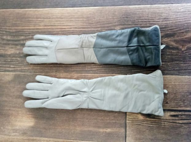 Перчатки кожанные длинные