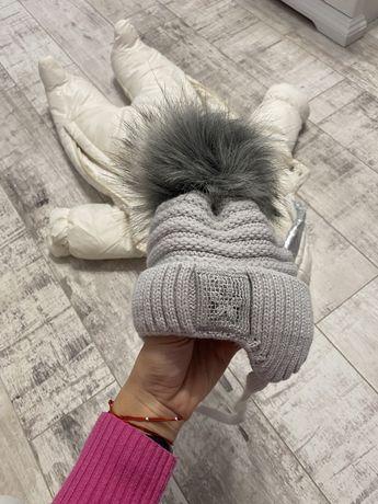 Детский зимний комбинезон с шапкой. Новый