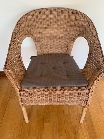 Cadeira de palha/bambu Ikea