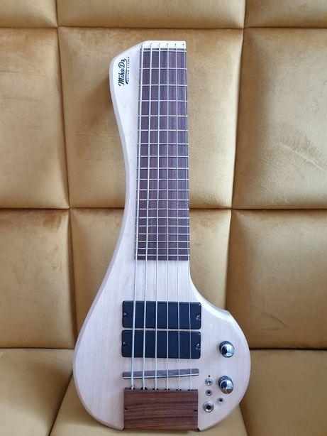 FingyBass gitara basowa 6 str travel możliwość podłączenia słuchawek