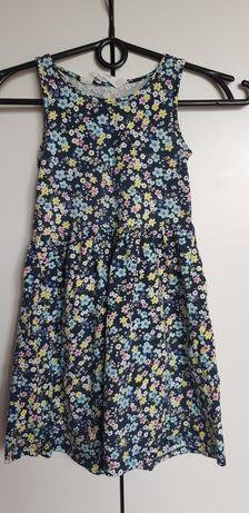 Sukienka H&M rozm. 110 / 116 Idealna! Kwiatki