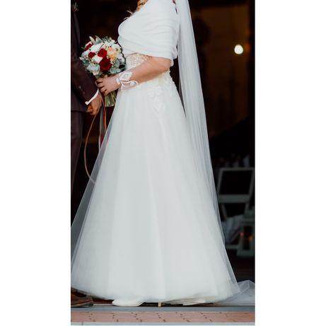 Suknia ślubna Ivory Lorange roz. 38 długi rękaw stan idealny