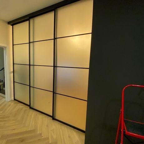Раздвижные системы для шкафов купе, межкомнатные перегородки. Двери.