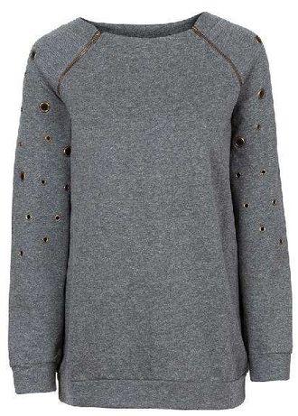 Nowa szara bluza wiosna z zamkami BODYFLIRT 36/38 sliczna