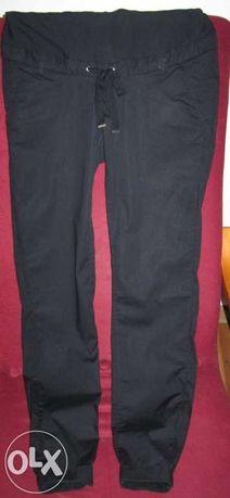 spodnie ciążowe H&M czarne luźne 34/36