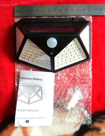 Luz led com painel solar