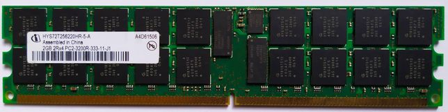 Память 2Gb PC2-3200R DDR2-400 2Rx4 HUS72T256220HR-5 Buffered ECC Reg