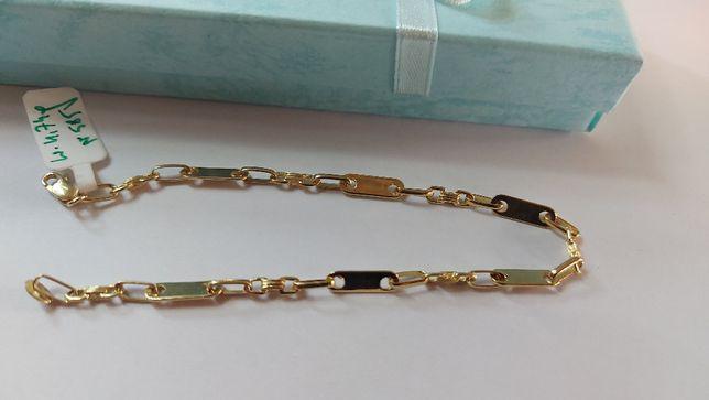 Przepiękna złota bransoletka, okazja ! [585]
