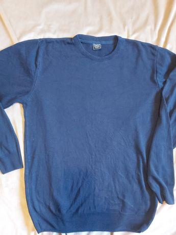 Sweter bluzka męska granatowa L