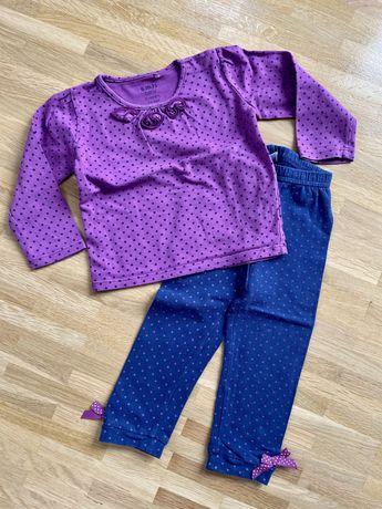 Komplet bluzka + spodnie dla dziewczynki rozmiar 74