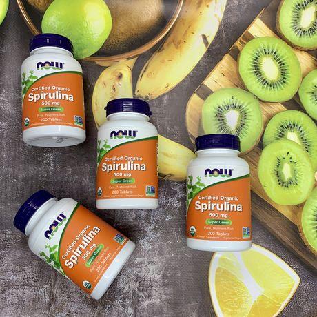 Купить Now Foods, органическая спирулина, 500 мг, 200 таблеток
